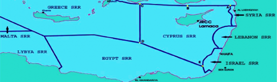 The Cyprus SRR (Search And Rescue Region) And The Neighboring SRRs